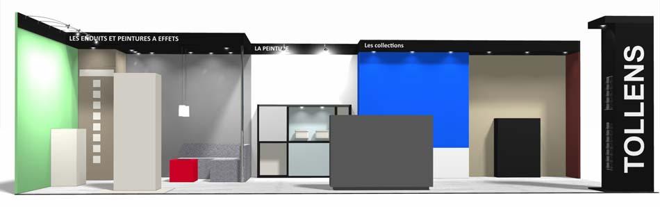 Projection 3D du stand Tollens aux Journées Castorama 2012