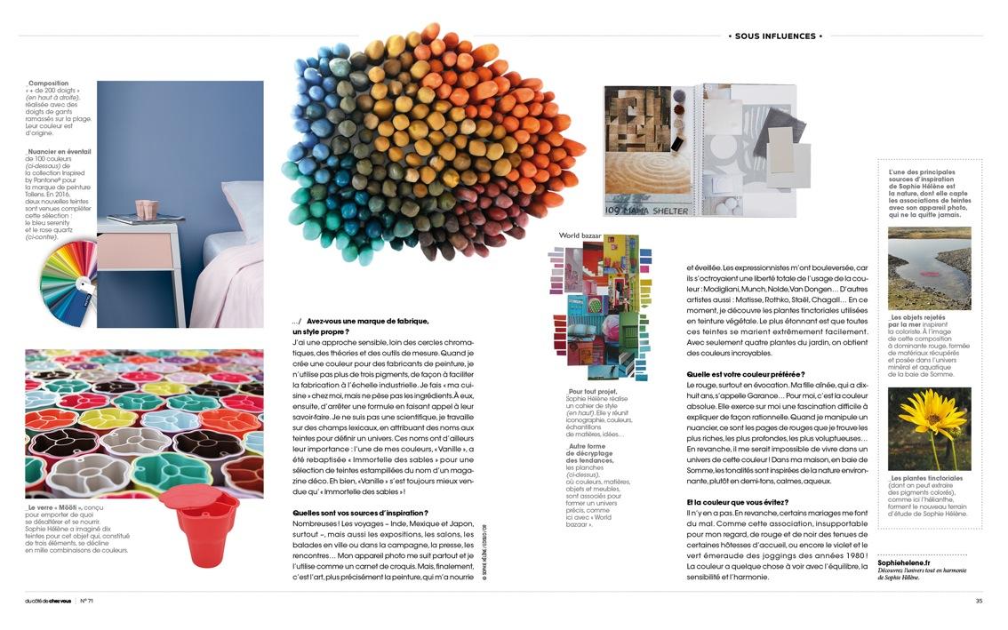 magazine Du côté de chez vous, parution octobre 2016