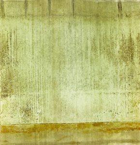 Shotgun Cartridge Landscape #7 Photographie, environ 70 cm x 80 cm, et cartouche originale, 6 cm x 7 cm, 2015